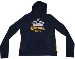 Mens Hoodies Corona Extra Gold Label Heather Grey Hoodie Pullover
